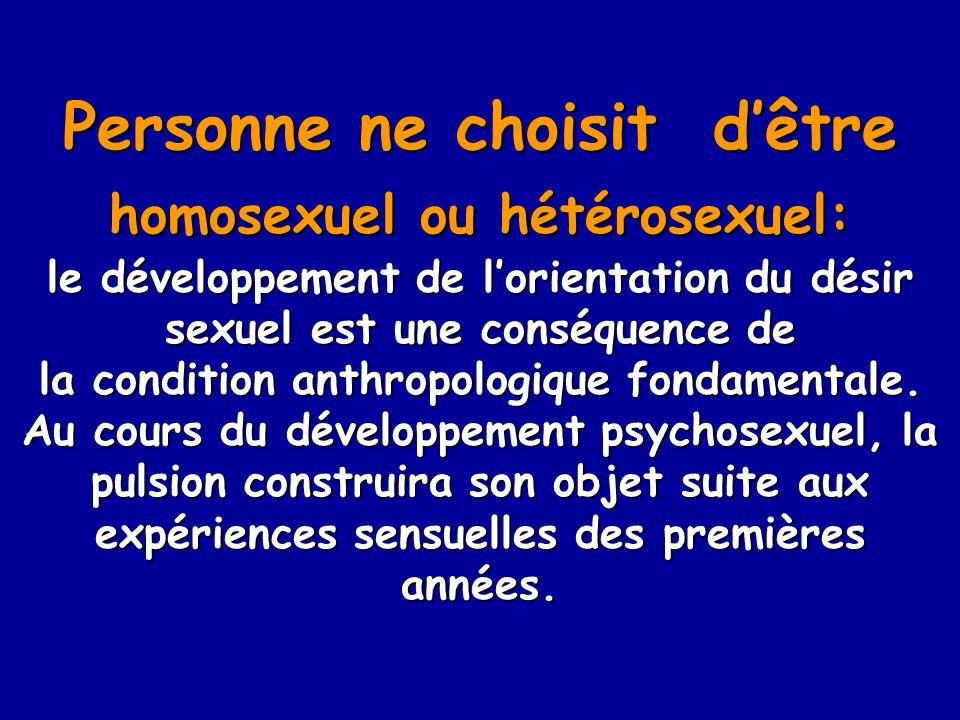 Personne ne choisit d'être homosexuel ou hétérosexuel: