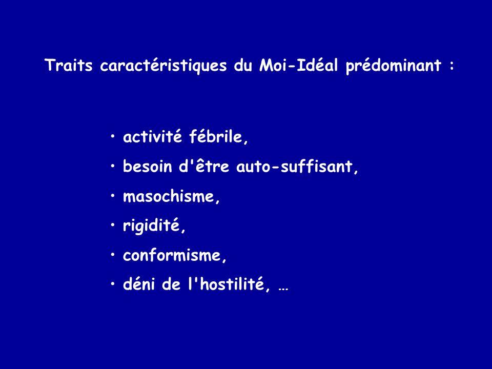 Traits caractéristiques du Moi-Idéal prédominant :