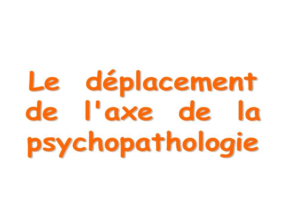Le déplacement de l axe de la psychopathologie