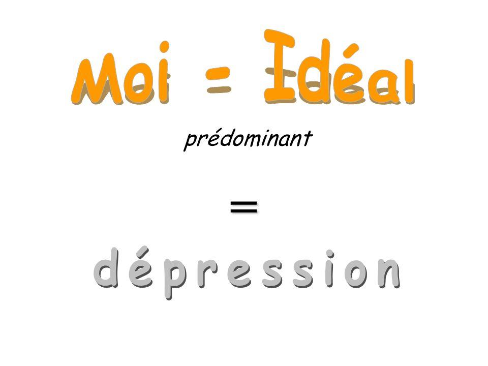 Moi - Idéal prédominant = dépression