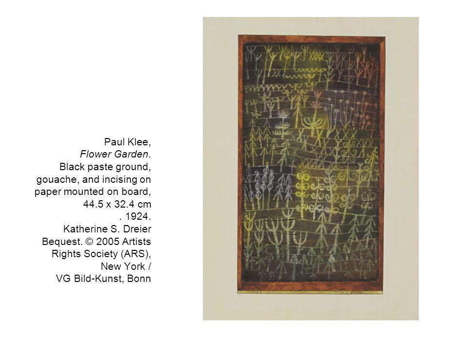 Paul Klee, Flower Garden