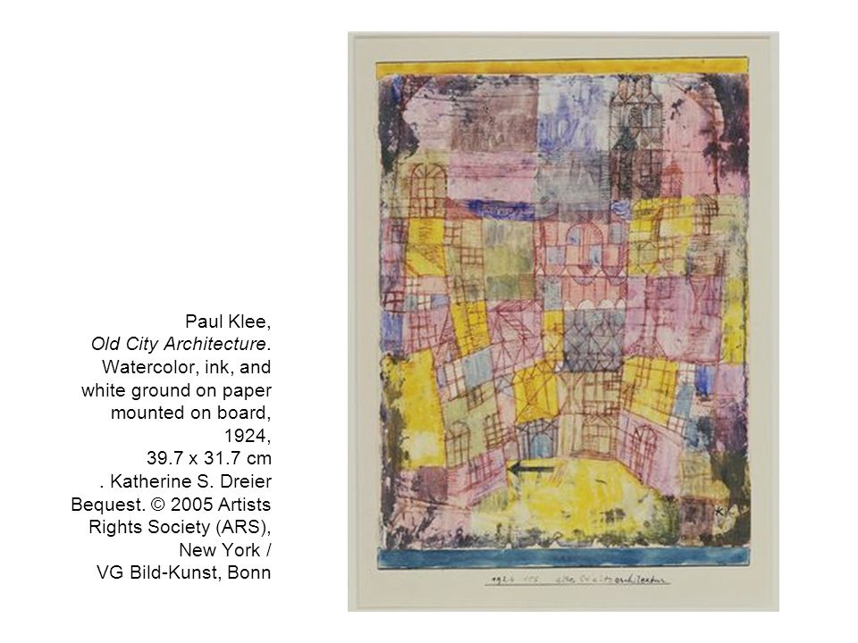 Paul Klee, Old City Architecture