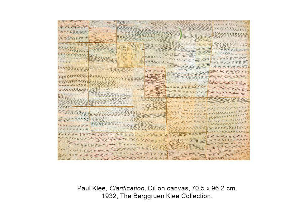 Paul Klee, Clarification, Oil on canvas, 70. 5 x 96