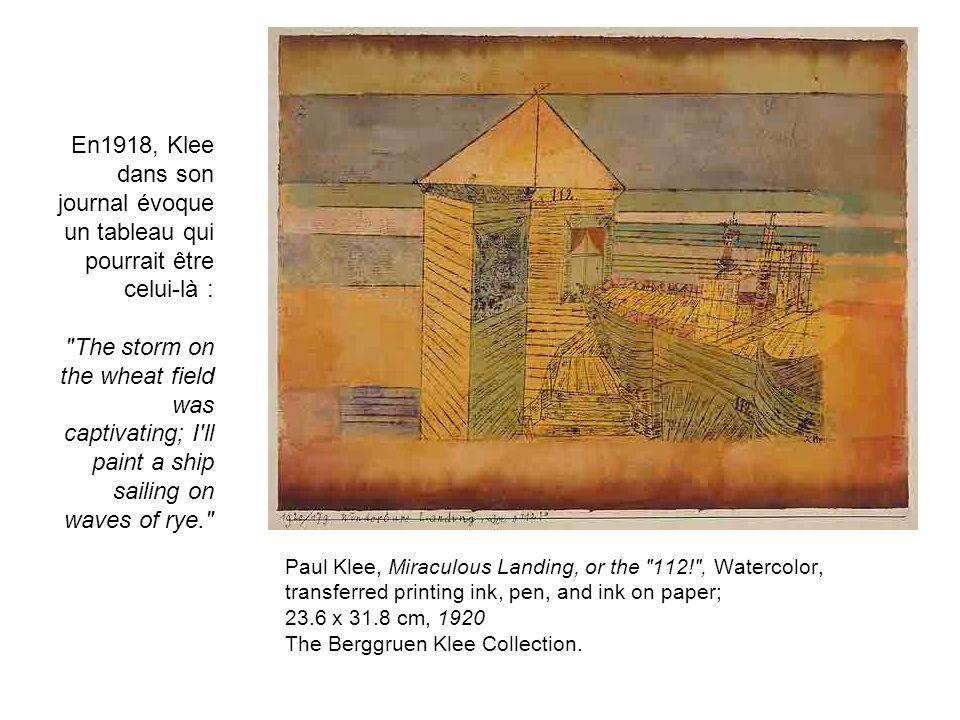 En1918, Klee dans son journal évoque un tableau qui pourrait être celui-là :