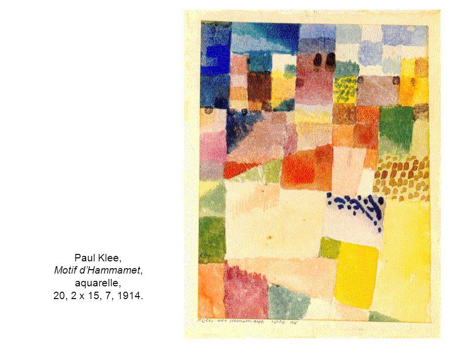 Paul Klee, Motif d'Hammamet, aquarelle, 20, 2 x 15, 7, 1914.