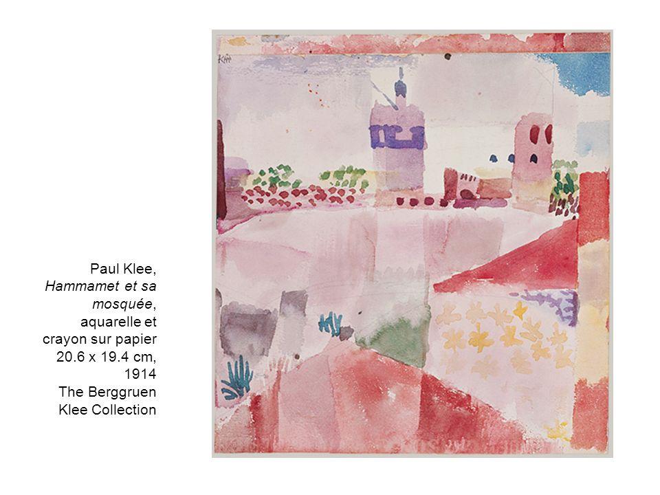Paul Klee, Hammamet et sa mosquée, aquarelle et crayon sur papier 20