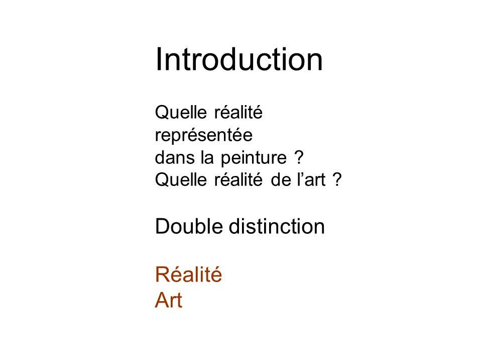 Introduction Quelle réalité représentée dans la peinture