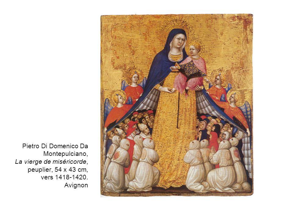 Pietro Di Domenico Da Montepulciano, La vierge de miséricorde, peuplier, 54 x 43 cm, vers 1418-1420.