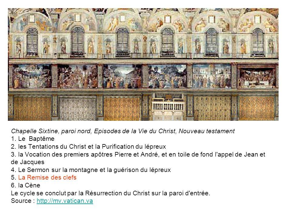 Chapelle Sixtine, paroi nord, Episodes de la Vie du Christ, Nouveau testament 1.