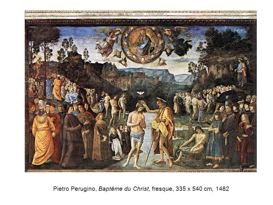Pietro Perugino, Baptême du Christ, fresque, 335 x 540 cm, 1482