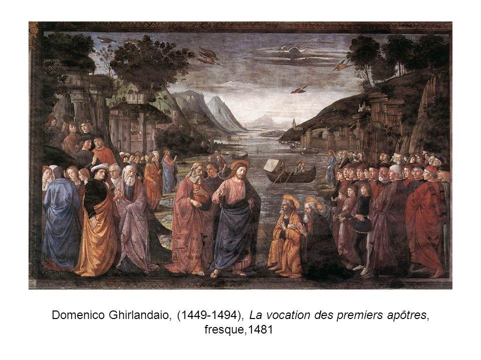 Domenico Ghirlandaio, (1449-1494), La vocation des premiers apôtres, fresque,1481