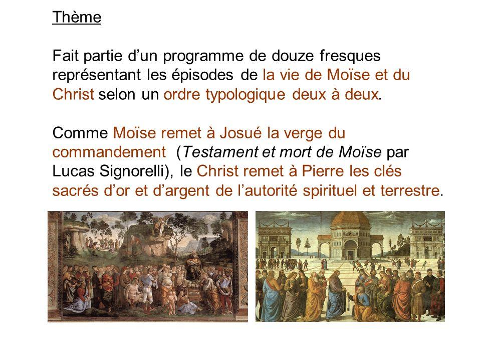 Thème Fait partie d'un programme de douze fresques représentant les épisodes de la vie de Moïse et du Christ selon un ordre typologique deux à deux.