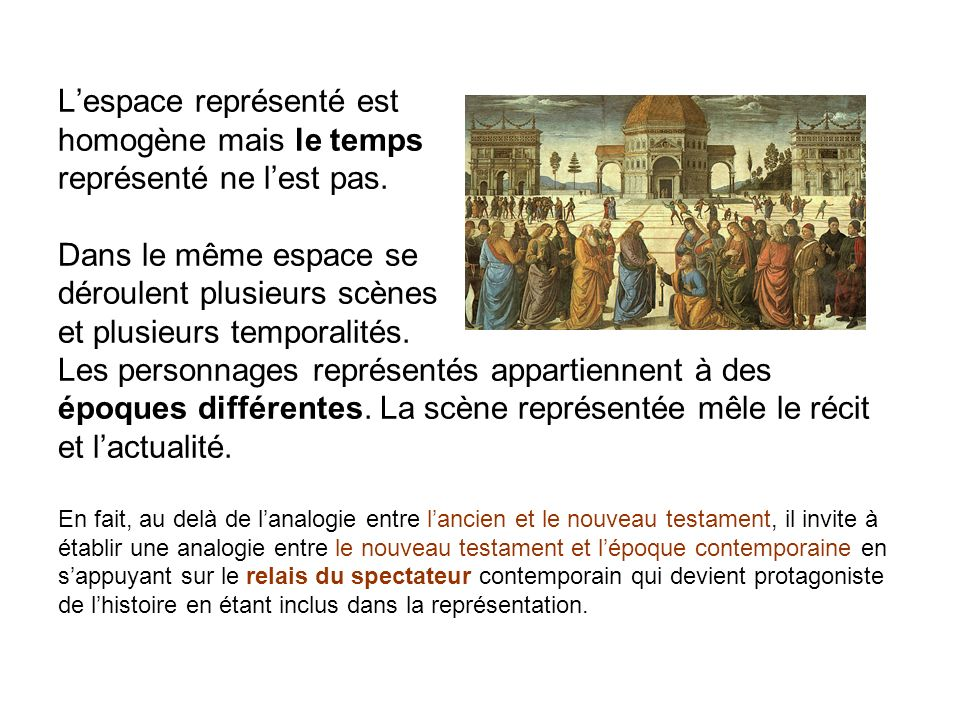 L'espace représenté est homogène mais le temps représenté ne l'est pas