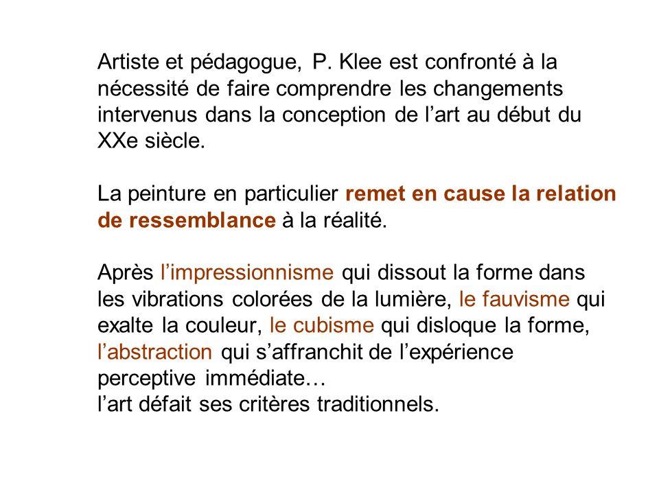 Artiste et pédagogue, P.