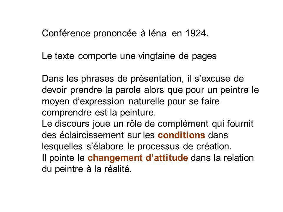 Conférence prononcée à Iéna en 1924