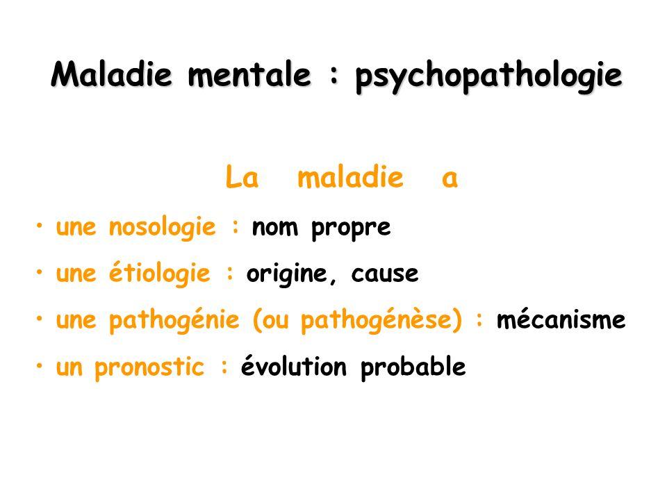 Maladie mentale : psychopathologie