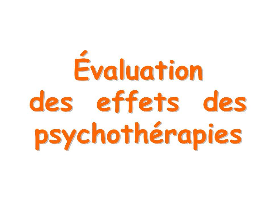 Évaluation des effets des psychothérapies