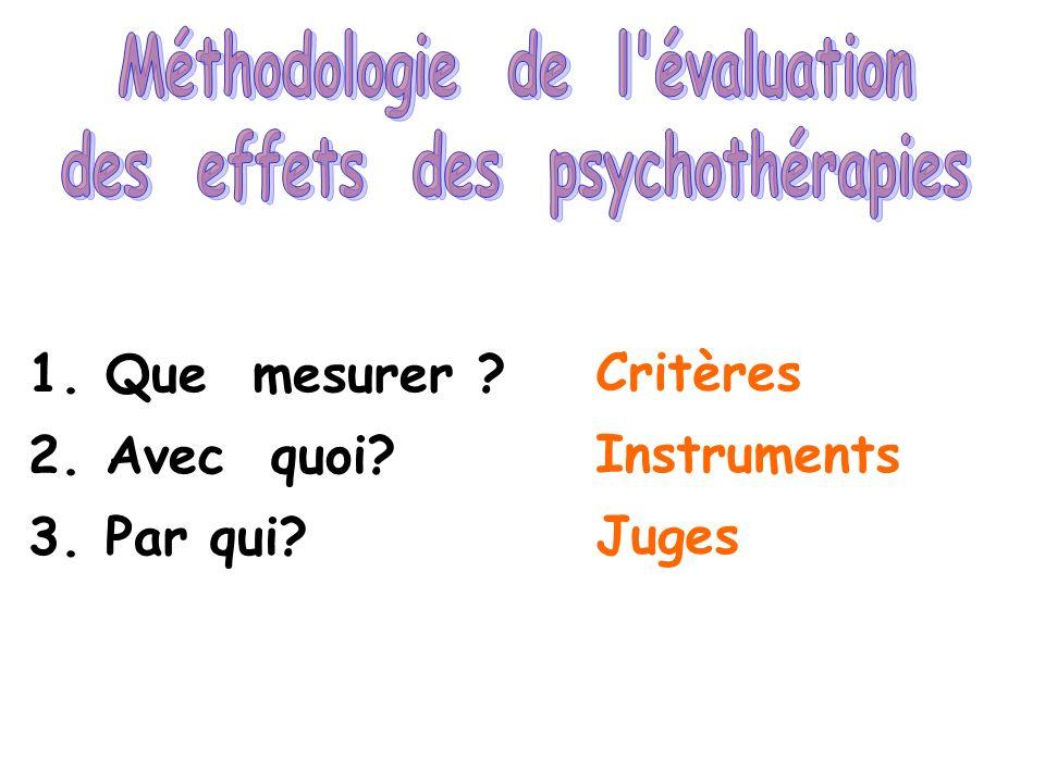 Méthodologie de l évaluation des effets des psychothérapies