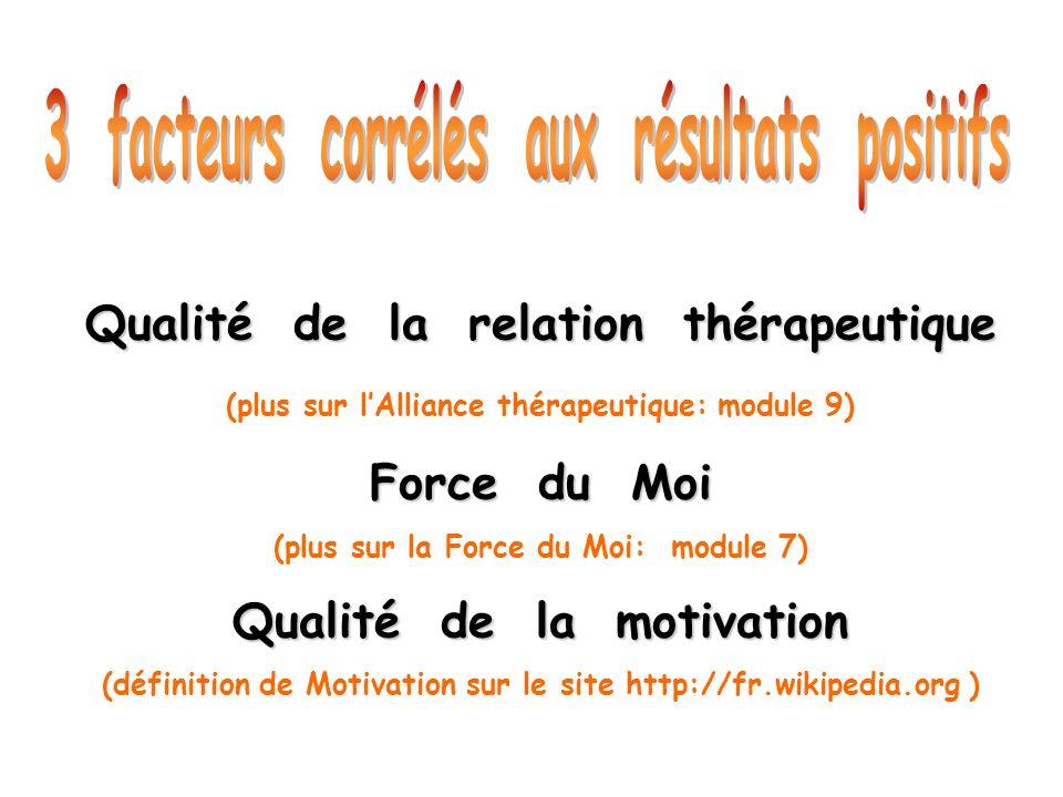 3 facteurs corrélés aux résultats positifs