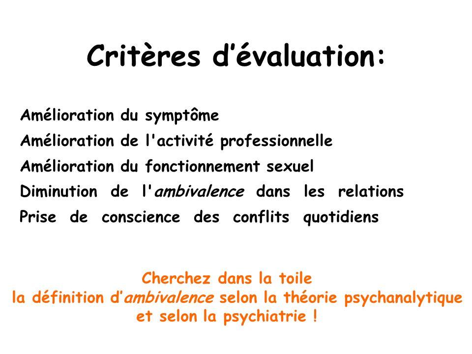 Critères d'évaluation: