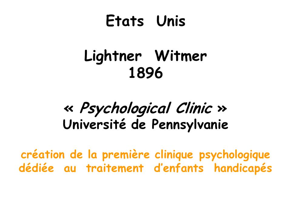« Psychological Clinic » Université de Pennsylvanie