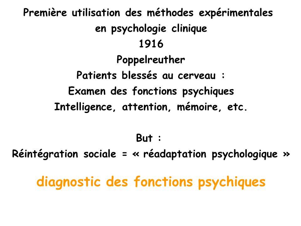 diagnostic des fonctions psychiques