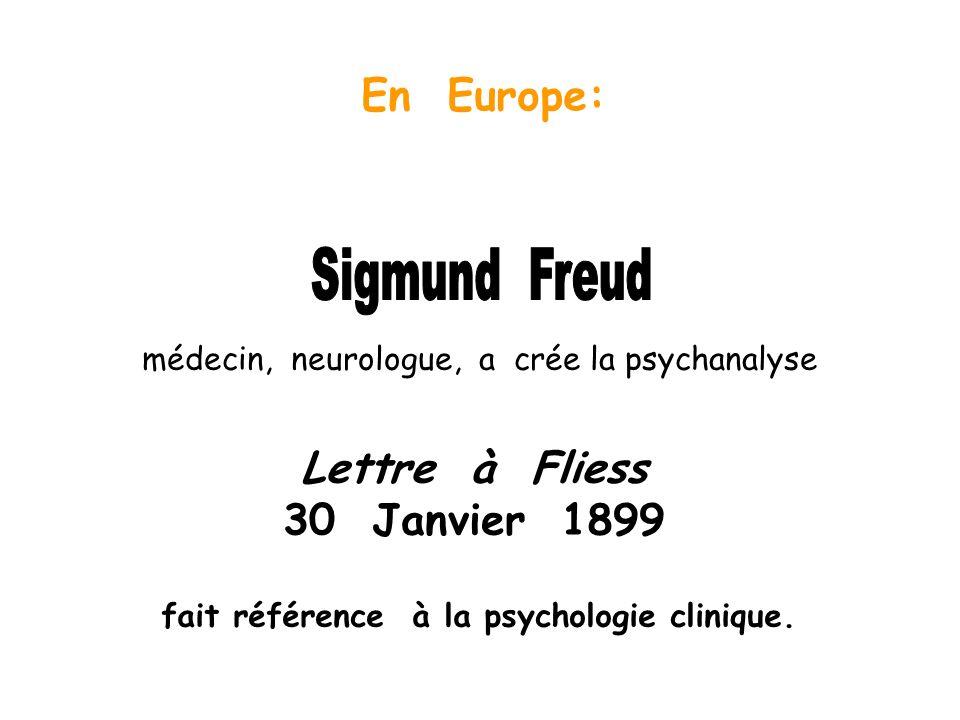 Sigmund Freud En Europe: Lettre à Fliess 30 Janvier 1899