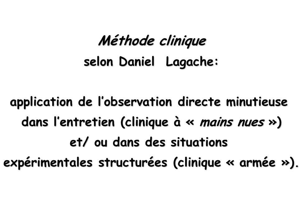 Méthode clinique selon Daniel Lagache: