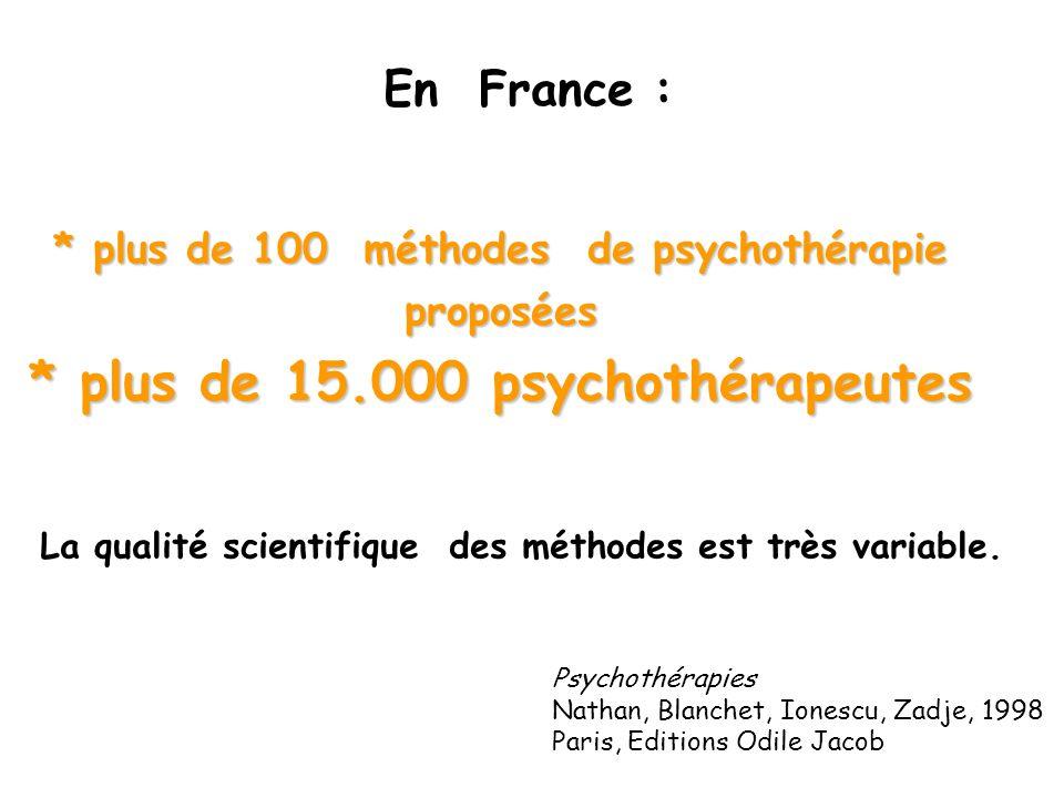 * plus de 15.000 psychothérapeutes