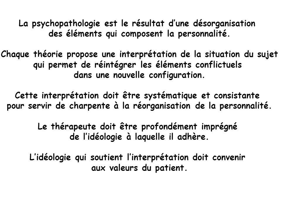 La psychopathologie est le résultat d'une désorganisation