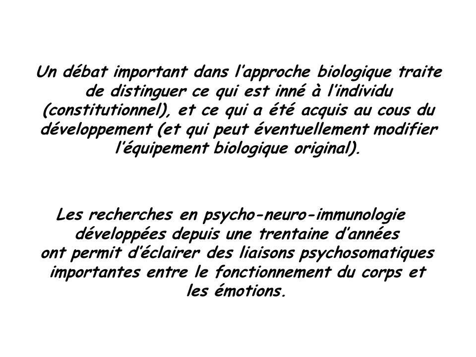 Les recherches en psycho-neuro-immunologie
