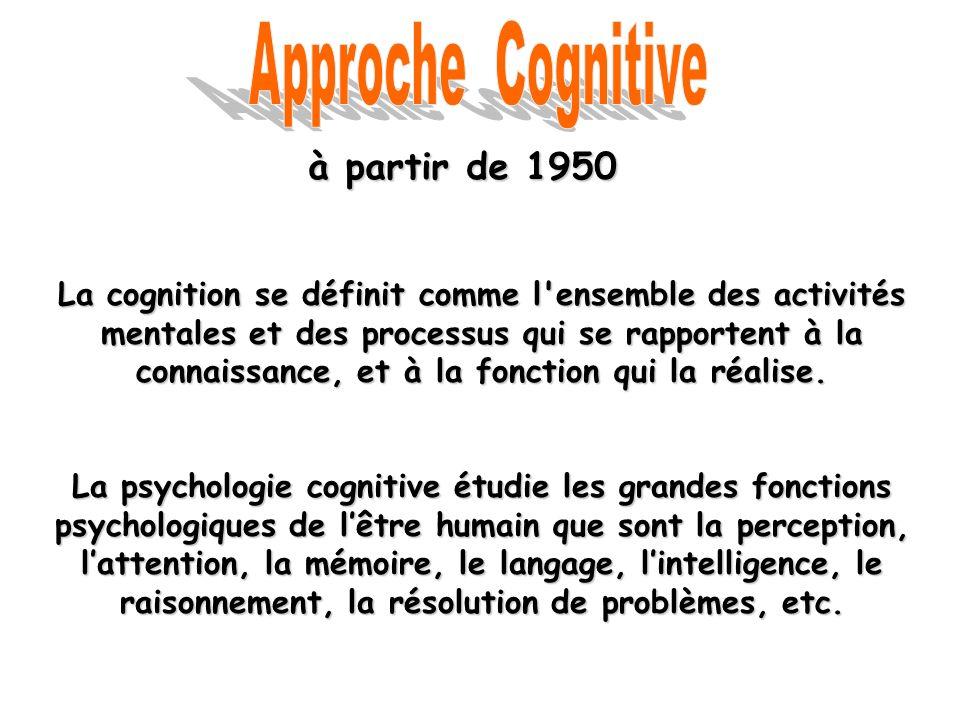 Approche Cognitive à partir de 1950