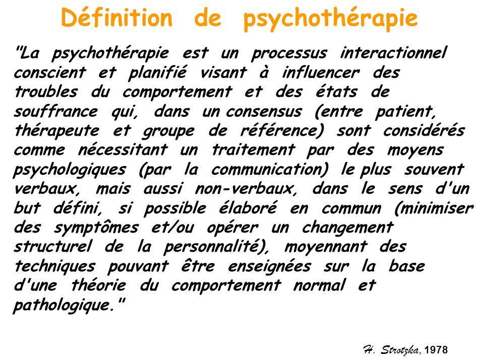 Définition de psychothérapie