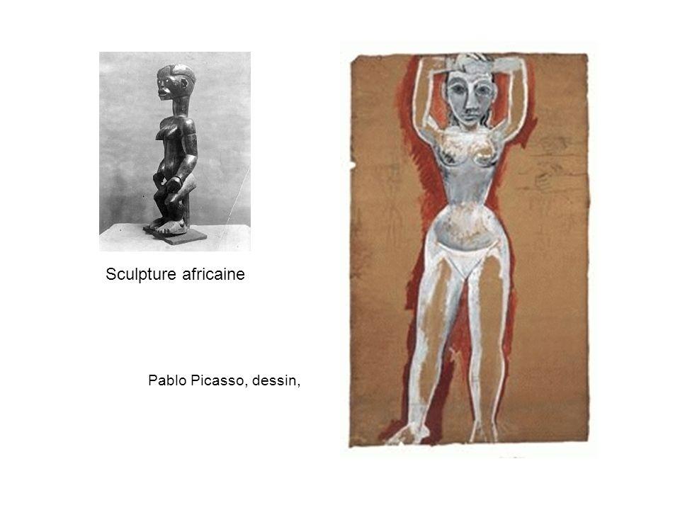 Sculpture africaine Pablo Picasso, dessin,