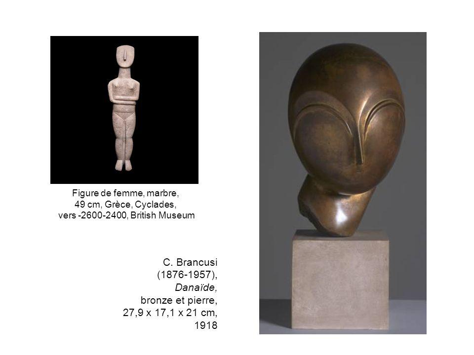 Figure de femme, marbre, 49 cm, Grèce, Cyclades, vers -2600-2400, British Museum.