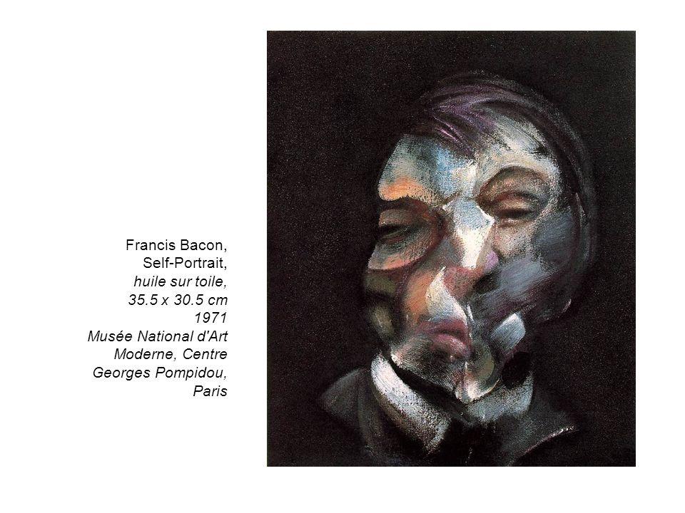 Francis Bacon, Self-Portrait, huile sur toile, 35. 5 x 30