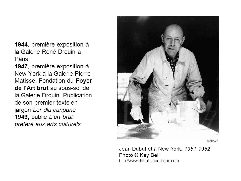 1944, première exposition à la Galerie René Drouin à Paris