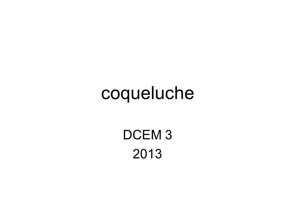 coqueluche DCEM 3 2013