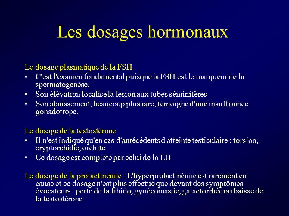 Les dosages hormonaux Le dosage plasmatique de la FSH