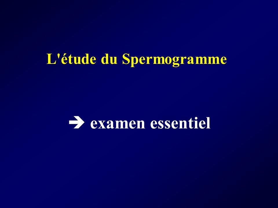 L étude du Spermogramme
