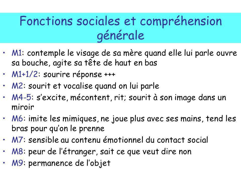 Fonctions sociales et compréhension générale