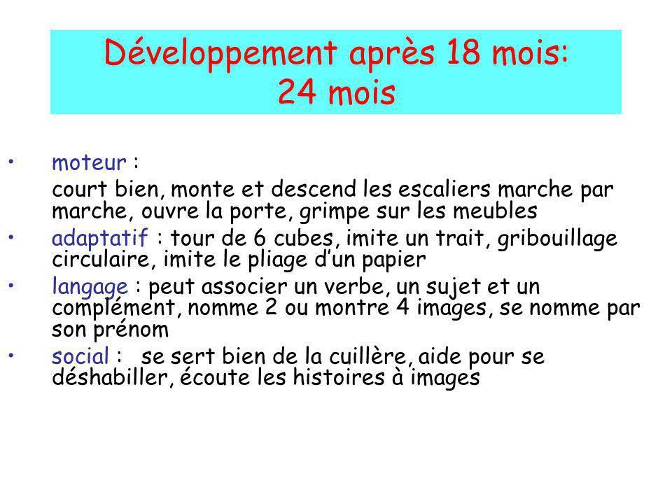 Développement après 18 mois: 24 mois