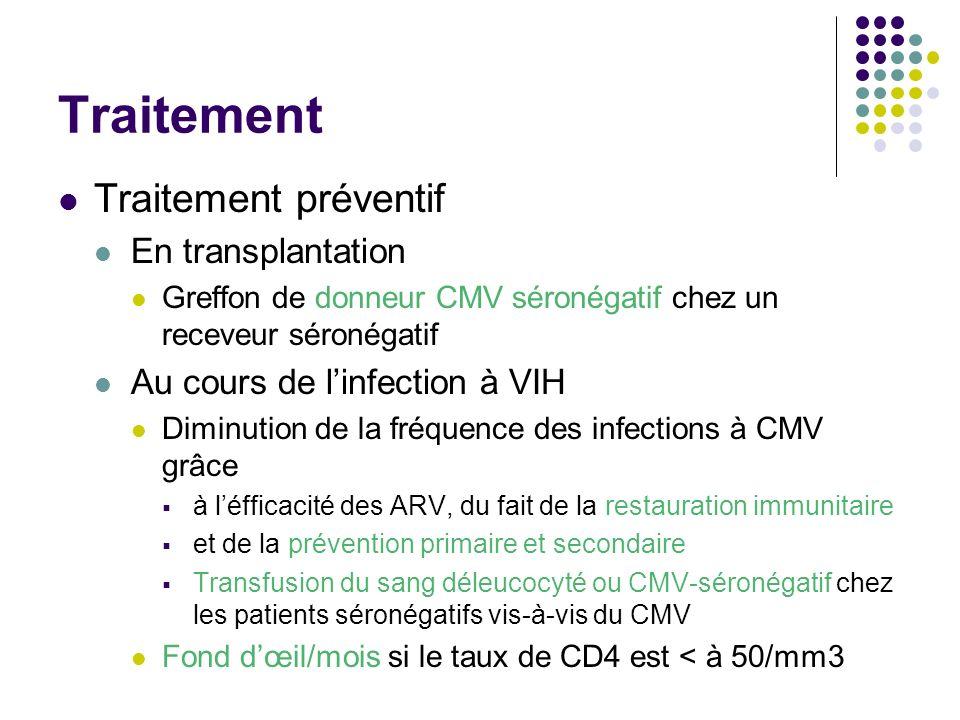Traitement Traitement préventif En transplantation