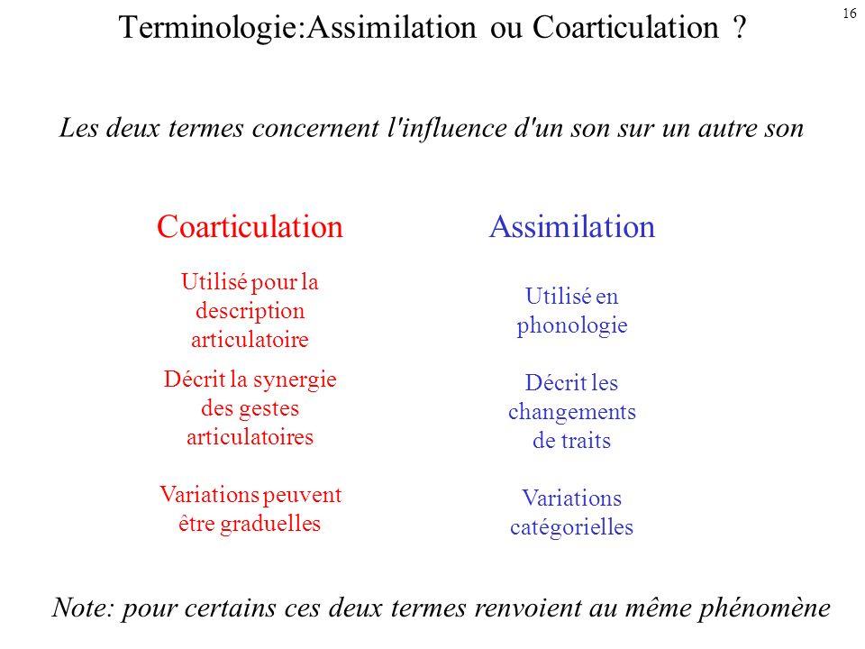 Terminologie:Assimilation ou Coarticulation