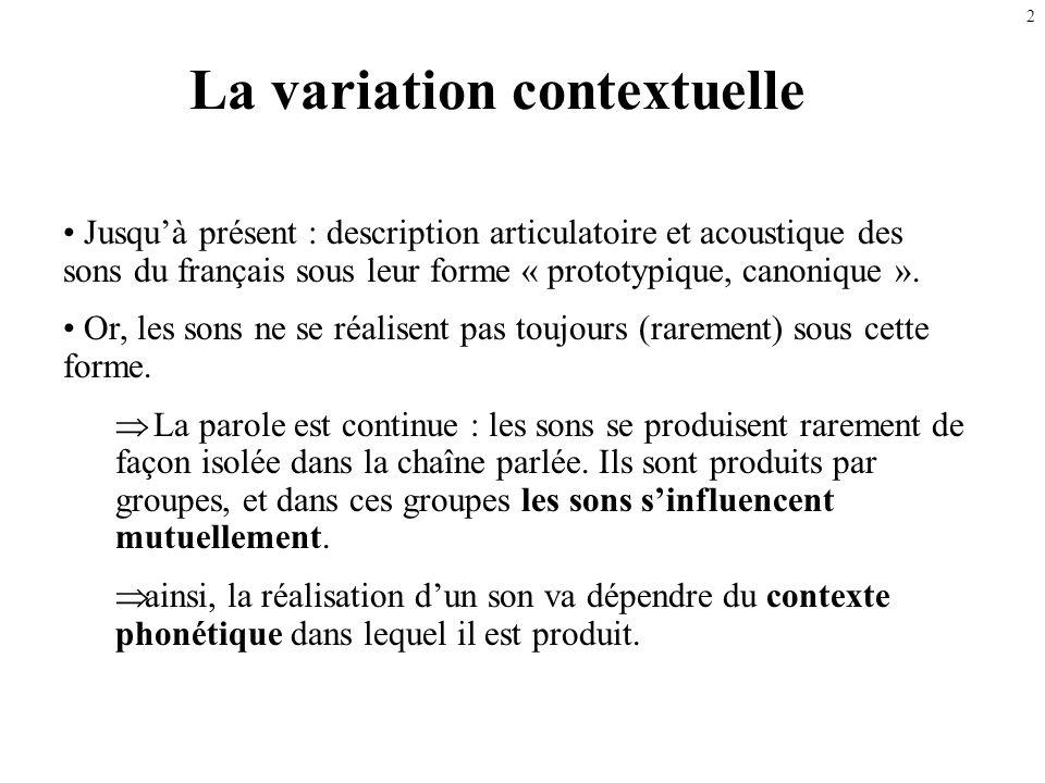La variation contextuelle