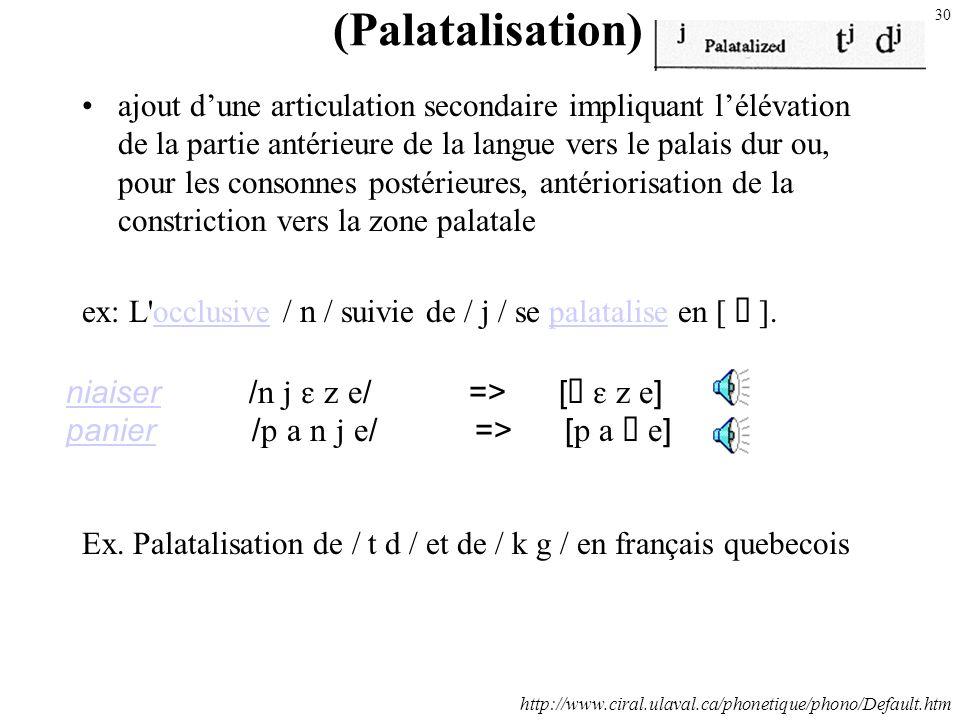 (Palatalisation)