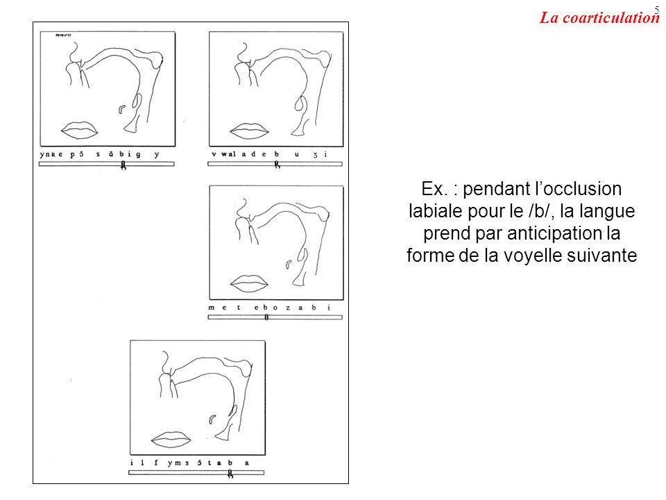 La coarticulation Ex.