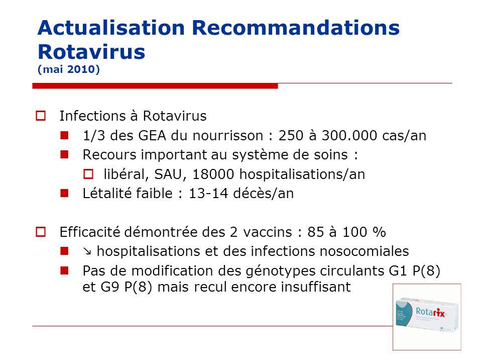 Actualisation Recommandations Rotavirus (mai 2010)