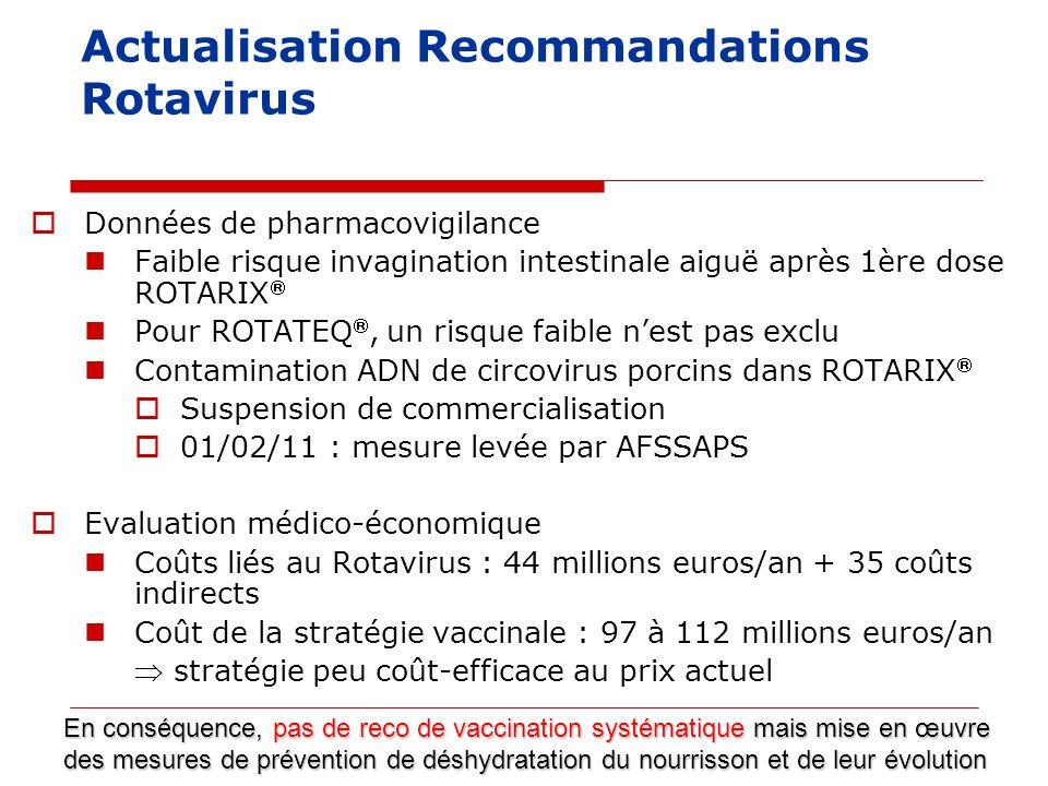 Actualisation Recommandations Rotavirus