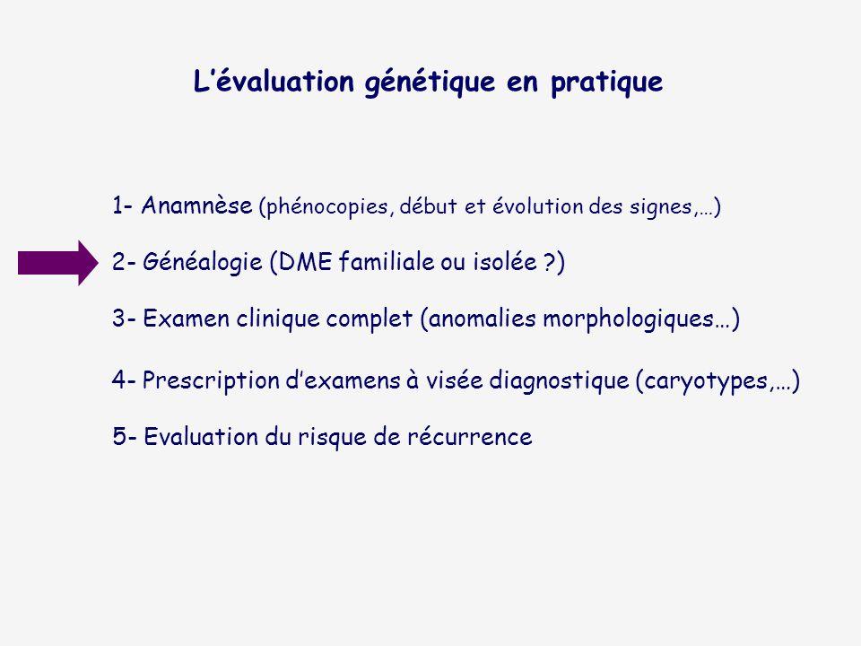L'évaluation génétique en pratique